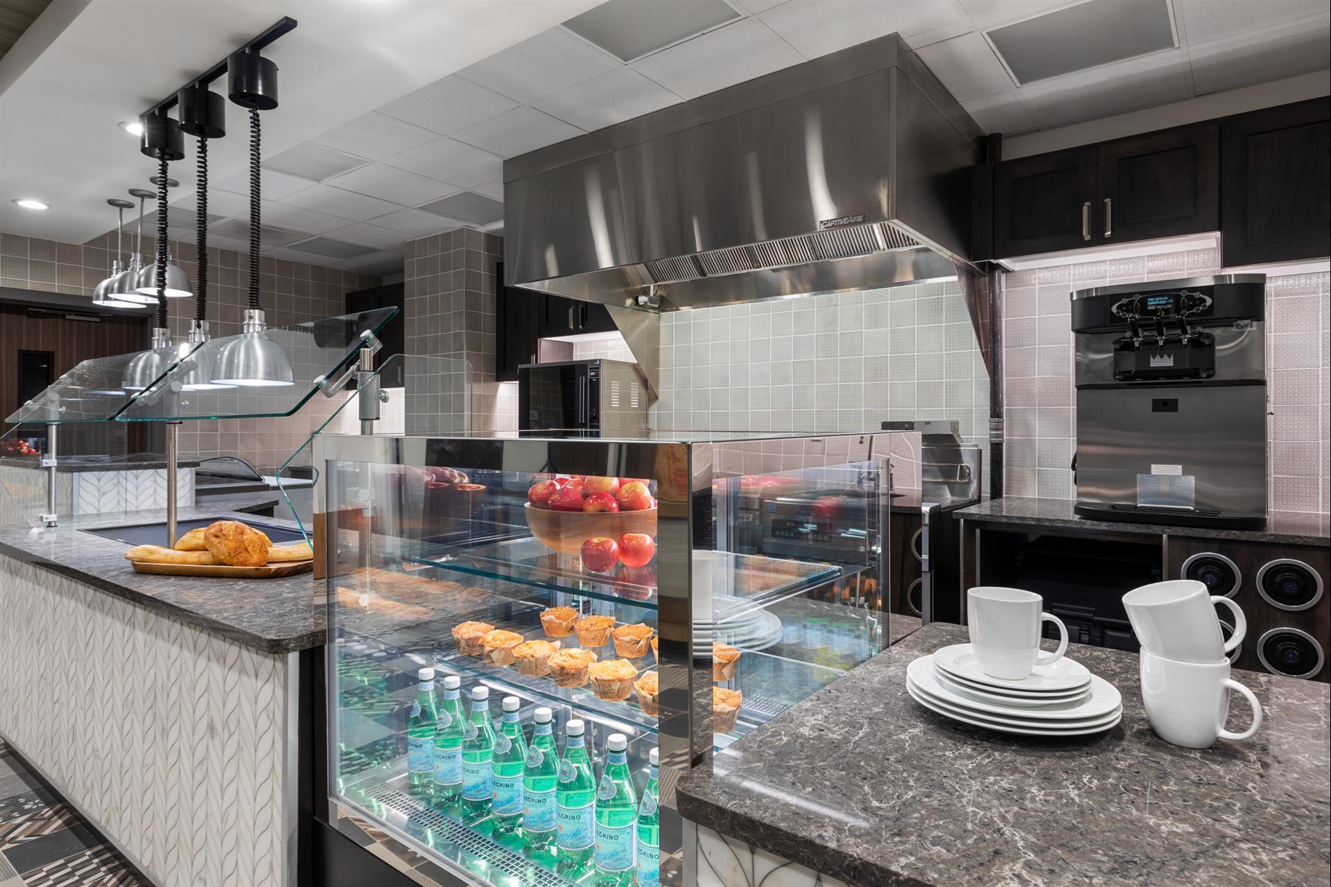 The kitchen inside The Vista