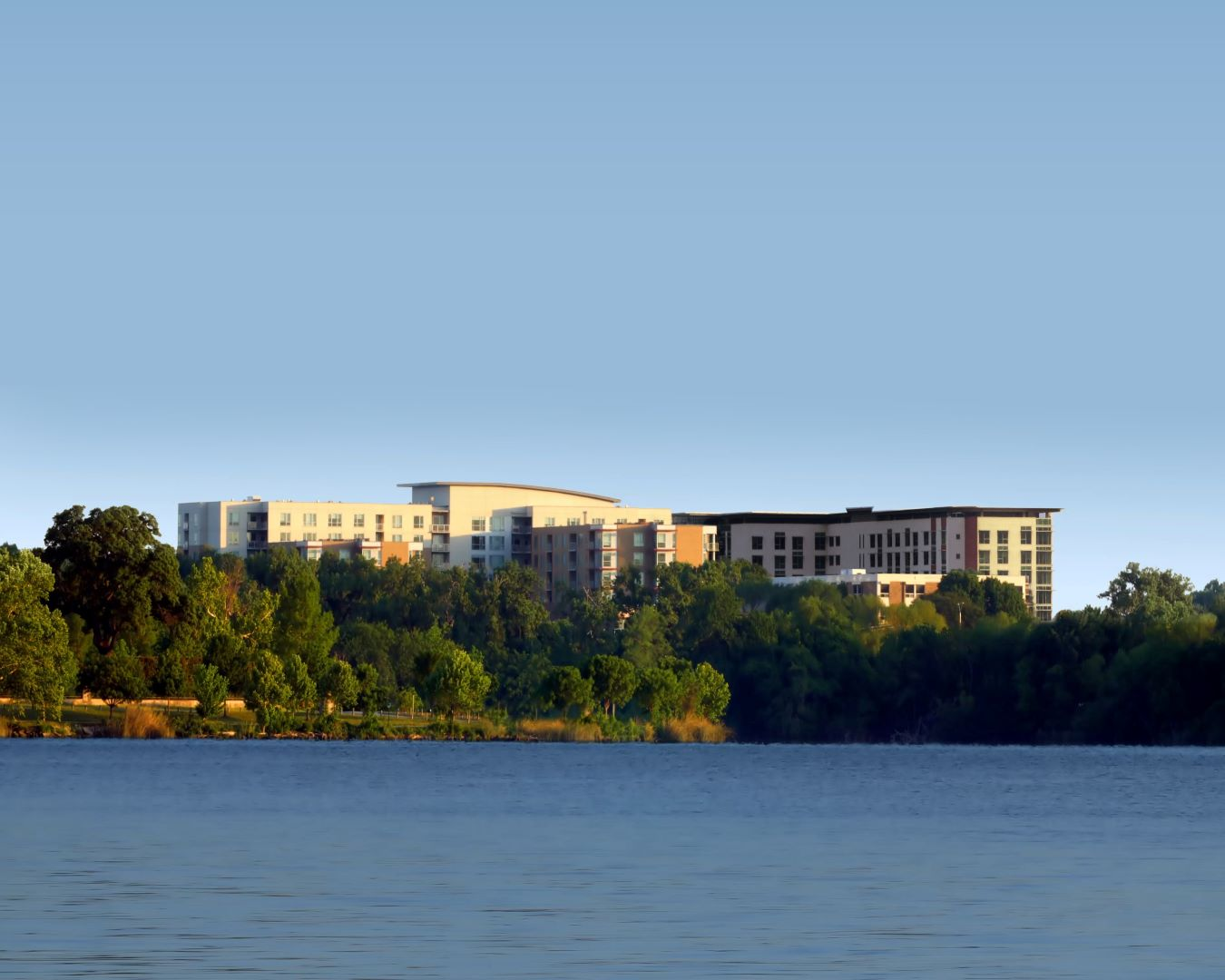 view of CC Young from across a lake