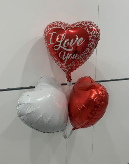 Valentine\'s Day Three Balloon Bouquet