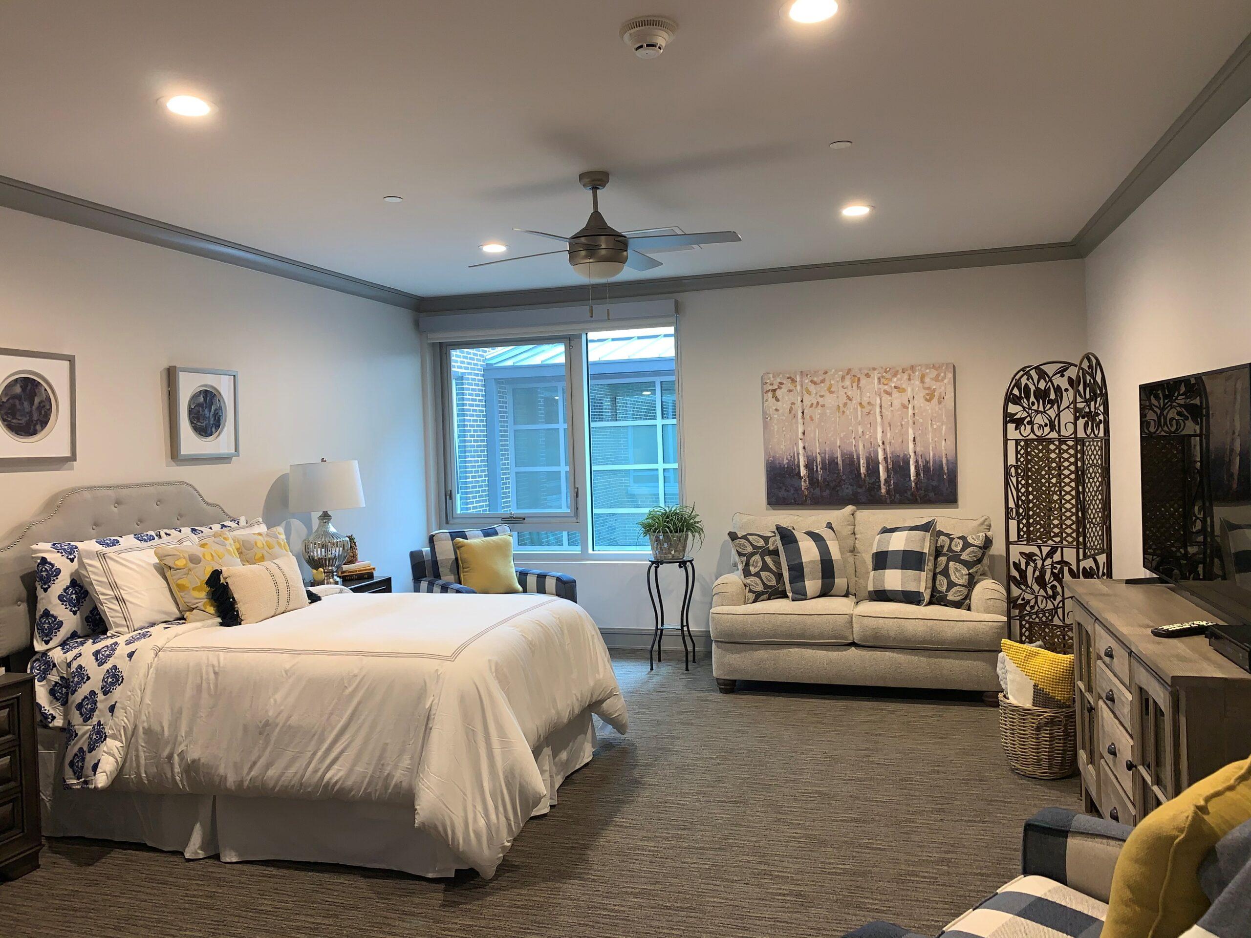 interior of a senior apartment in Dallas, TX